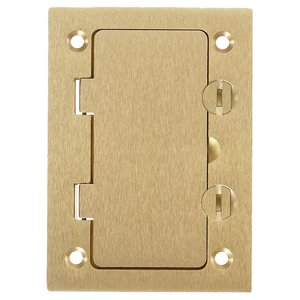 Hubbell-Kellems S3826 Rectangular Floor Box Cover, 1-Gang, Type GFCI, Brass