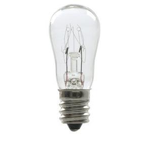 Candela 10S6/10-230V Miniature Lamp, S6, 10W, 230V, Clear, Candelabra Screw Base