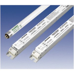 SYLVANIA QTP-2X28T5/UNV-PSN Electronic Ballast, Fluorescent, T5, 2-Lamp, 28W, 120-277V
