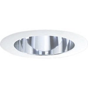 "Progress Lighting P8172-21A Cone Trim, Deep, 5"", Clear Alzak"