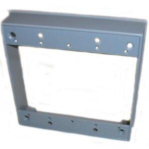 "Mulberry Metal 30273 Weatherproof Box Extension, 2-Gang, Depth: 1"", Aluminum"