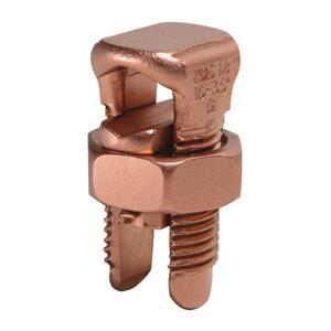 Burndy KS23 Split Bolt, Copper, Run: 6 to 2 AWG, Tap: 6 to 2 AWG