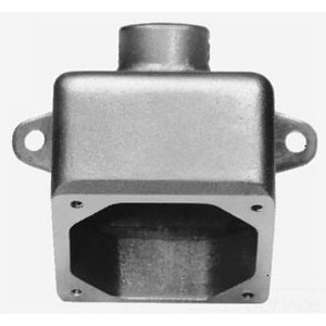 "Cooper Crouse-Hinds ARE33 Back Box for 20/30A Receptacle, 1"" Hub, Angled"