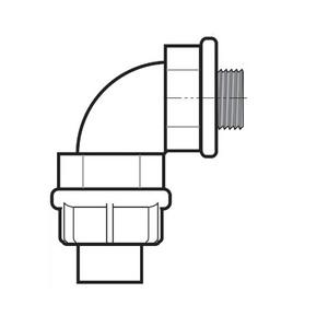 Perma-Cote PM4Q950T 1/2 90 LT CONNECTOR