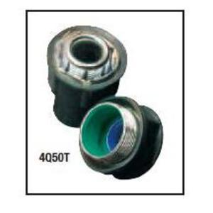 "Perma-Cote PM4Q50T Liquidtight Connector, Straight, Size: 1/2"", Steel/PVC Coated"