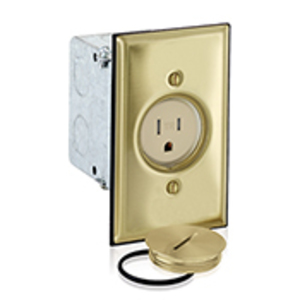 Leviton 5249-TFB Single Receptacle, 1-Gang,  Floor Box Assembly