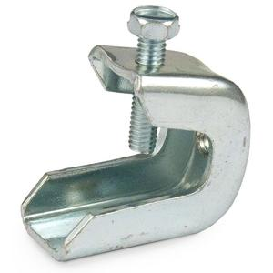 "Erico Caddy BC400 Beam Clamp, 3/8"" Rod or 3/8-16 Bolts to Flange 3/4"", Steel"