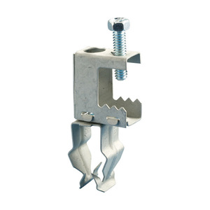 "Erico Caddy BC12P Conduit to Beam Clamp, EMT: 3/4"", Rigid: 1/2"", Flange: 1/2"", Steel"