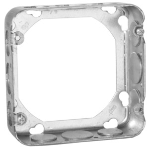 "Hubbell-Raco 250 4-11/16"" Square Extension Ring, 1-1/2"" Deep, Drawn, Metallic"