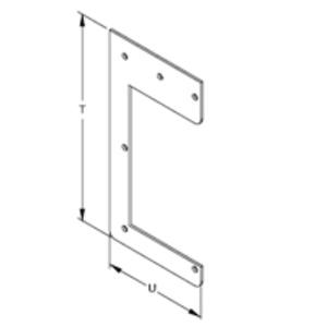 "Hoffman F44HD Wireway Drop Hanger, 4"" x 4"", Type 12, Steel, Gray"