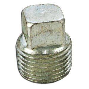 """Cooper Crouse-Hinds PLG15 Close-Up Plug, Square Head, 1/2"""", Explosionproof, Steel"""