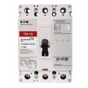 Eaton FDB3125 Breaker, Molded Case, 3P, 125A, 600VAC, 250VDC, 14kA, Type FDB