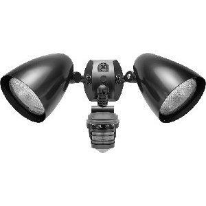 RAB STL360HB Flood Light, Halogen, Bullet, w/ Motion Sensor, 150W, Bronze