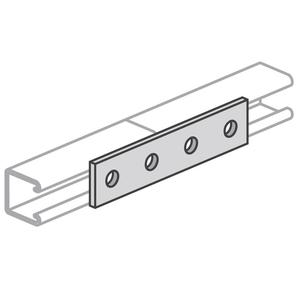 "Power-Strut PS888-EG Four-Hole Splice Plate, Length: 7-1/4"", Steel/Electro-Galvanized"