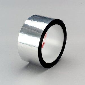 3M 850-SILVER-2X72YD-BULK Silver Polyester Film Tape, 2 Inch X 72 Yard