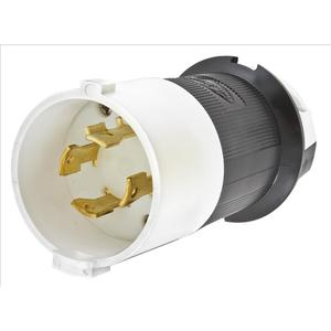 Hubbell-Kellems HBL2741S Lkg S/shrd Plug, 30a 3p 600v, L17-30p