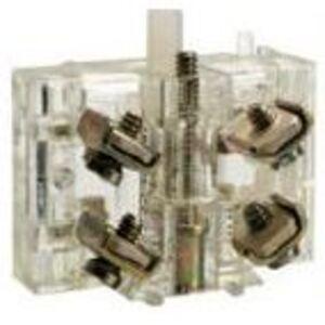 """Square D 9001KA1G Contact Block, 1NO/NC, Non-Fingersafe, 30mm, 0.75"""" Depth"""
