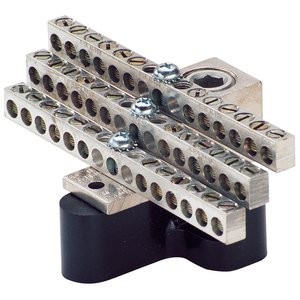Ilsco NB-350-30 Neutral Bar Kit, 30 Circuits, 6AWG-350MCM, Cu/Al Rated