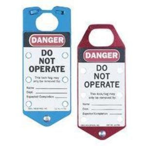 Ideal 44-791 Heavy Duty Lockout Tags, Red