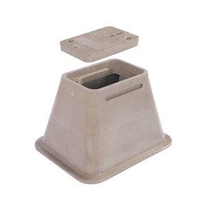 """Hubbell-Quazite PC1212HA0017 Cover, Tier 15, 12""""x12""""x0.75"""", 1-piece w/ 2 bolts"""