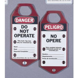 Ideal 44-841 Bilingual Lockout Tags