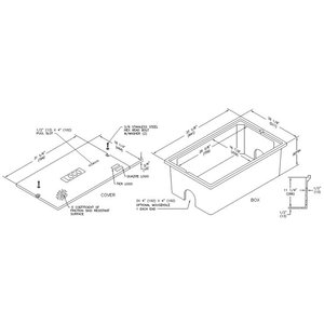 Hubbell-Quazite PC1730BA12 Stackable Box, Concrete Gray, PC  Cover, Open Base