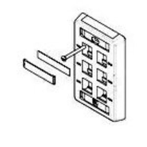 Tyco Electronics 557691-3 Wallplate 6-Port 2-Gang White