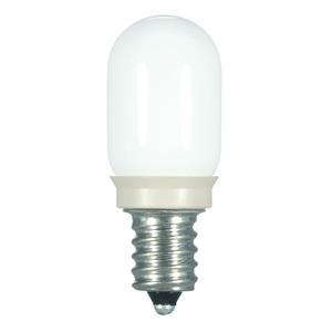 Satco S9177 Step Light LED, Clear, T6, 0.8 Watt, Candelabra Base, 120V