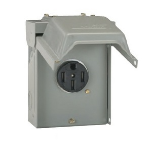 Midwest U054 Power Outlet Panel, Temporary, 50A, 1P, 120/240VAC, NEMA 3R