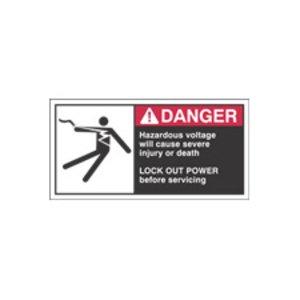 Brady 96157 Cema Safety Labels B302 2.5 In Hx5 In W 2 Clr