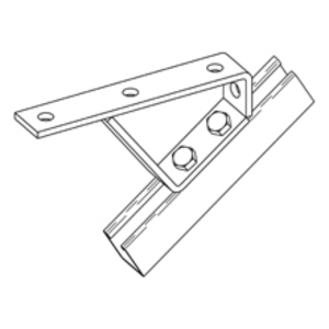 Cooper B-Line B562ZN Stair Support Fitting, 37-1/2°, 5-Hole, Steel/Zinc