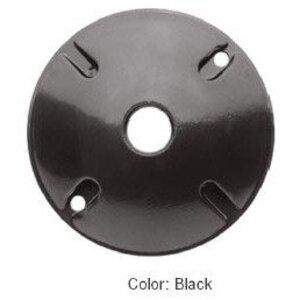 "RAB C100B Weatherproof Cover, Round, Diameter: 4"", 3-Hole, Black, Aluminum"