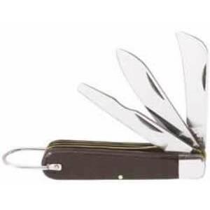 Klein 1550-6 3-Blade Pocket Knife, Sheepfoot, Spearpoint, Screwdriver-Tip