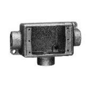 """Cooper Crouse-Hinds FDCT2 FD Device Box, 1-Gang, Feed-Thru, Type FDCT, 3/4"""", Malleable Iron"""
