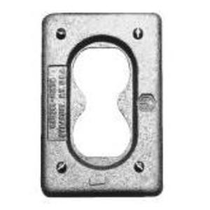 Cooper Crouse-Hinds DS23G Duplex Receptacle Cover, 1-Gang, Malleable Iron