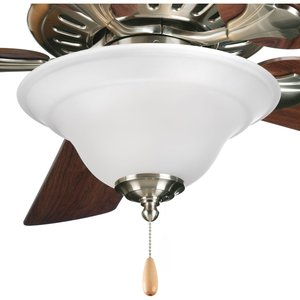 Progress Lighting P2628-09 Paddle Fan Light Kit, 3-Light, Brushed Nickel