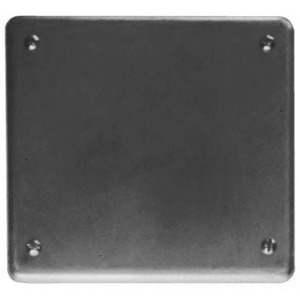 Cooper Crouse-Hinds S1002 Blank Cover, 2-Gang, Steel, Fits FS and FD Boxes
