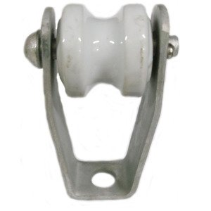 "PPC Insulators 4172 Wireholder, Insulated, Bolt-On, Length: 4"", Porcelain"