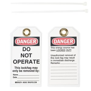 Brady 65502 Lockout Tags