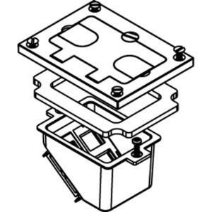 Wiremold 828COMTCAL Floor Box, Communications Cover, 1 Gang, Aluminum