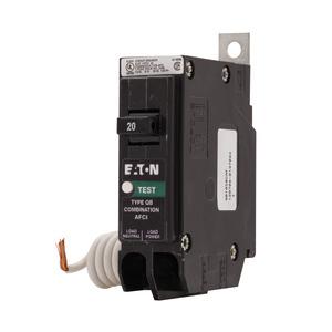Eaton QB1015CAF Breaker, Bolt-On, 15A, 1P, 120/240V, 10 kAIC, Arc Fault