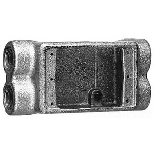 """Cooper Crouse-Hinds FSCD2 FS Device Box, 1-Gang, Feed-Thru, Type FSCD, 3/4"""", Malleable Iron"""