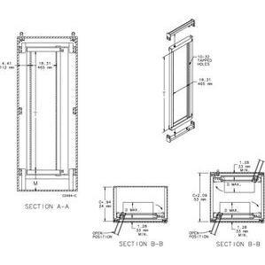 Hoffman A7236SOF19 Rack Frame 72.00x36.00 Full Sw