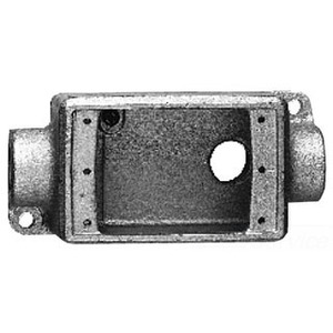 "Cooper Crouse-Hinds FSCA2 FS Device Box, 1-Gang, Feed-Thru, Type FSC, 3/4"", Malleable Iron"
