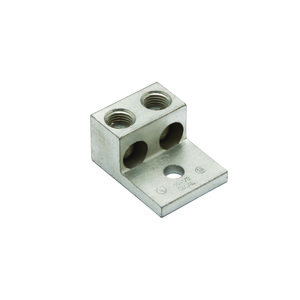 Burndy K2A25U Mechanical Lug, 2-Conductor, 1-Hole Mount, Aluminum, 14 - 1/0 AWG