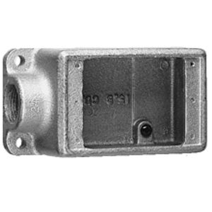 "Cooper Crouse-Hinds FS1SA FS Device Box, 1-Gang, Dead-End, Type FS, 1/2"", Aluminum"