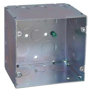 "Steel City 82181-1234 5"" Square Box, Welded, Metallic, 2-7/8"" Deep"