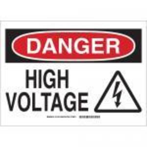 Brady 131706 Danger High Voltage Sticker