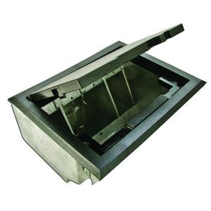 """Wiremold AF1-KT Combination Box, 3-Compartment, Depth: 5"""", Metallic"""