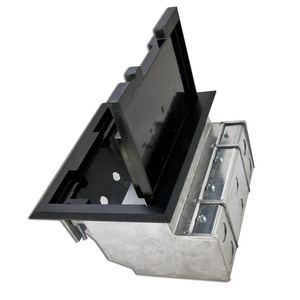 "Wiremold AF1-KC Combination Box, 3-Compartment, Depth: 5"", Length: 8-3/4"", Metallic"